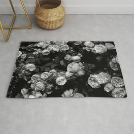 Roses are black and white Rug