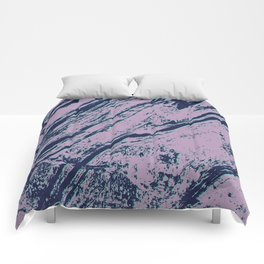 Lilac marble effect Comforters