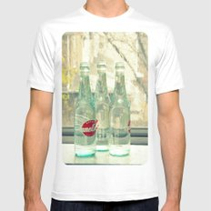 rainy day ~ vintage soda bottles White SMALL Mens Fitted Tee