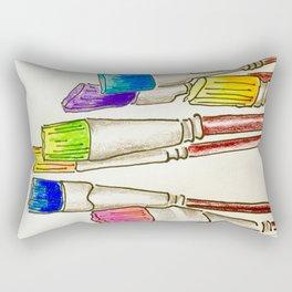 Brushes Rectangular Pillow