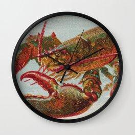 Vintage Illustration of a Lobster (1889) Wall Clock