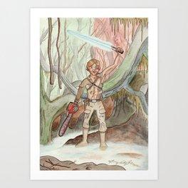Groovy Luke Art Print