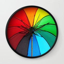 Rainbow Umbrella  Wall Clock