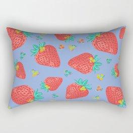 Strawberries | Purple Rectangular Pillow