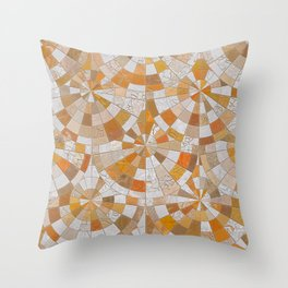 Marble cracked mosaic Throw Pillow
