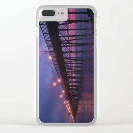 Oceanside Pier Sunset Clear iPhone Case
