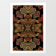 Fall Fractal Wreath Art Print