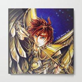 Gold Saint Sagittarius Metal Print