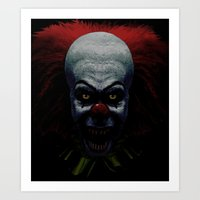 pennywise Art Prints featuring Pennywise by John Medbury (LAZY J Studios)
