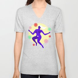 The dancer II Unisex V-Neck