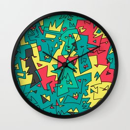 Face Pattern 90's edition Wall Clock