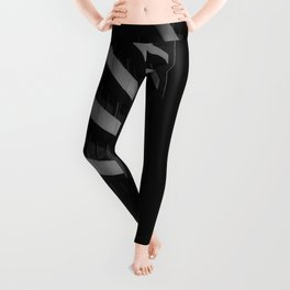 GRAYSCALE PHOTO OF HIGH RISE BUILDING-3 Leggings