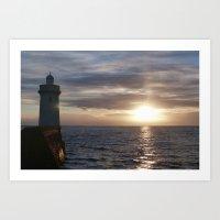 Scottish Lighthouse Art Print