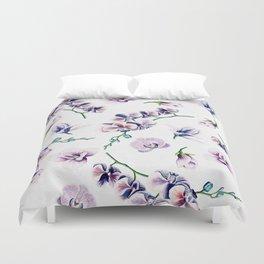 Lavender Blossom Floral Pattern Duvet Cover