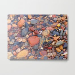 Beach Stones Along Lake Superior Metal Print
