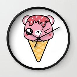 BEAR-Y CUTE ICE CREAM FRAMELESS Wall Clock