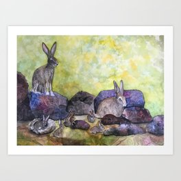Jack's Family by Maureen Donovan Art Print