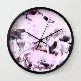 pink-purpe Wall Clock