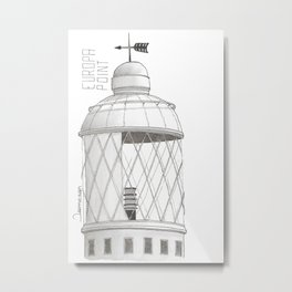 Europa Point Lighthouse in Gibraltar Metal Print