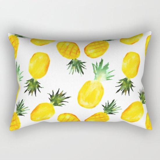 Pineapple vibes    watercolor Rectangular Pillow