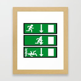 Fire Exit Funny. Framed Art Print