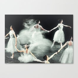 Ghost Dance, Vintage Ballet Canvas Print