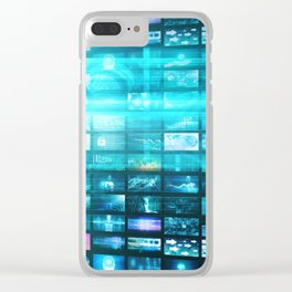 Disruptive Technologies and Technology Disruption as a Tech Concept Clear iPhone Case