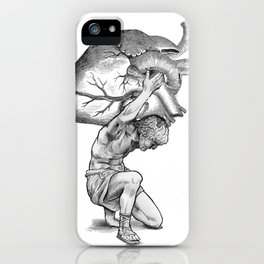Heavy-Hearted - The Weight of the World iPhone Case