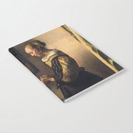 Johannes Vermeer - Girl reading a letter by an open window Notebook