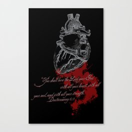 With all your heart Canvas Print