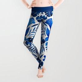 Tropical Symmetry – Navy Leggings
