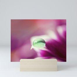 Green Water Drop Mini Art Print