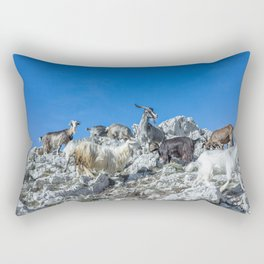 Climbing on the top of Redentore Mountain Rectangular Pillow