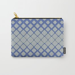 Elegant Geometric Pulse in Deep Baby Blue Carry-All Pouch