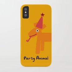 Party Animal-Orange Slim Case iPhone X
