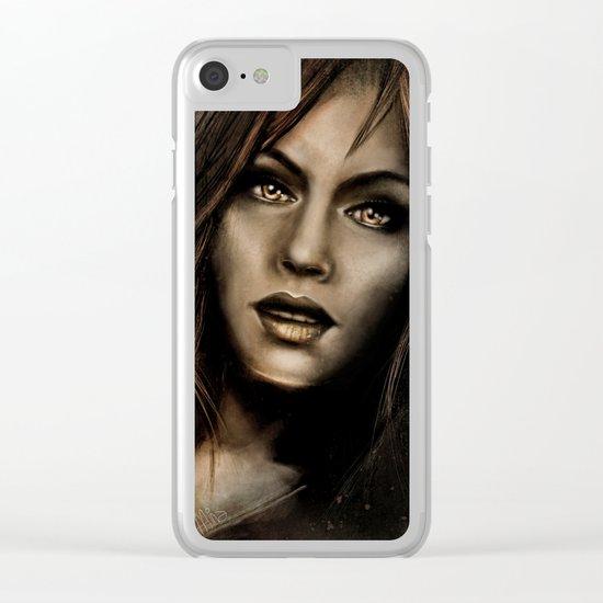 Beautiful Warrior Clear iPhone Case