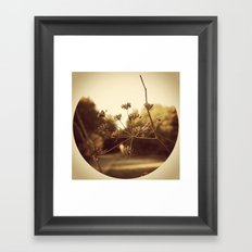 Delicate Branches Framed Art Print