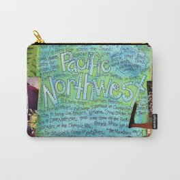 Northwest by Seattle Mixed Media Artist Mary Klump Carry-All Pouch