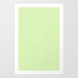 Oppa gingham style (iphone case, green) Art Print
