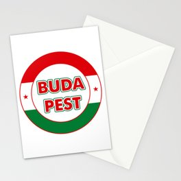 Budapest, circle, color Stationery Cards