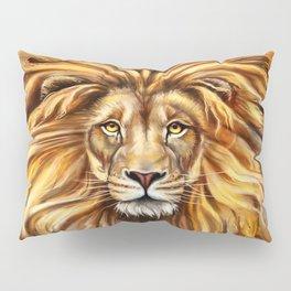 Artistic Lion Face Pillow Sham