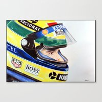 senna Canvas Prints featuring Senna by Gabriel Fox