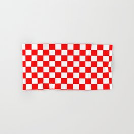 Checkers - Red and White Hand & Bath Towel