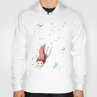 diver Hoodies featuring Diver by Freeminds