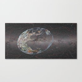 Galactic Coordinates Over Milky Way by Hatart [Includes Constellations] Canvas Print