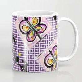 Butterflies in Flight Formation Pattern Coffee Mug