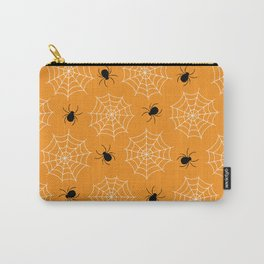 Halloween Spider Web Seamless Pattern Carry-All Pouch
