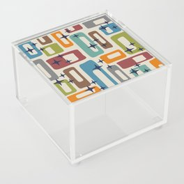 Retro Mid Century Modern Abstract Pattern 224 Acrylic Box
