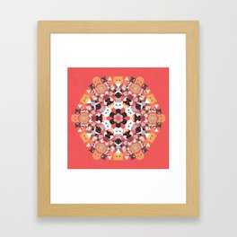 Catleidoscope Framed Art Print