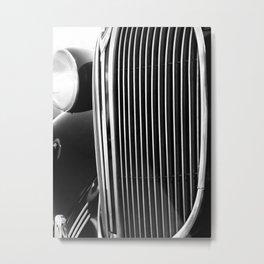 Classic Car Grill Detal Metal Print